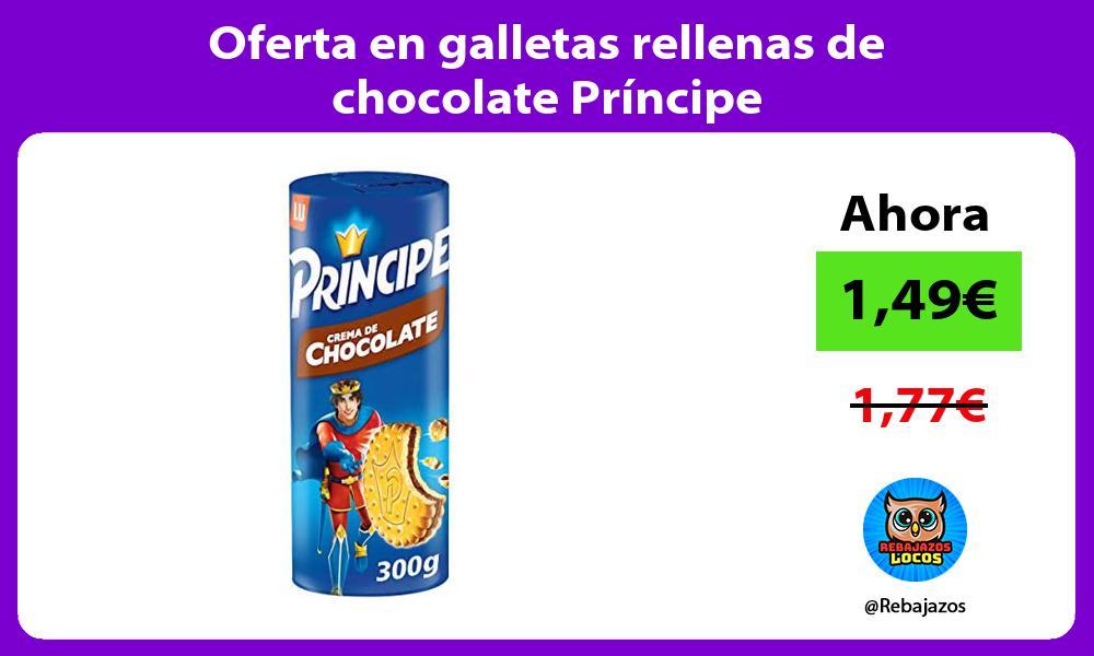Oferta en galletas rellenas de chocolate Principe