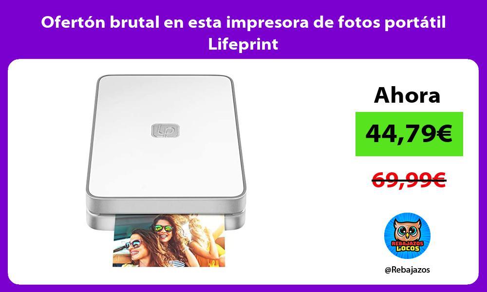 Oferton brutal en esta impresora de fotos portatil Lifeprint