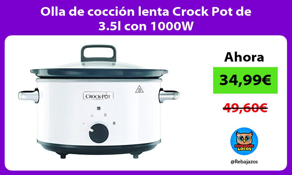 Olla de coccion lenta Crock Pot de 3 5l con 1000W