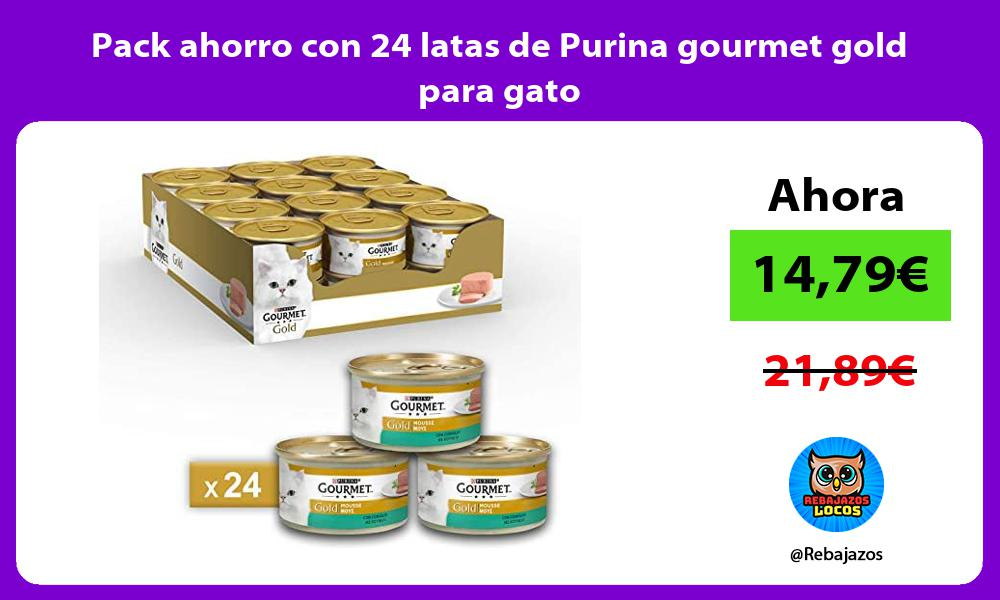 Pack ahorro con 24 latas de Purina gourmet gold para gato