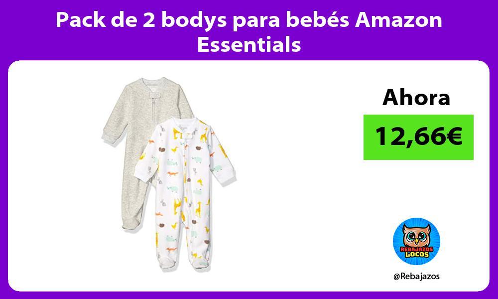 Pack de 2 bodys para bebes Amazon Essentials