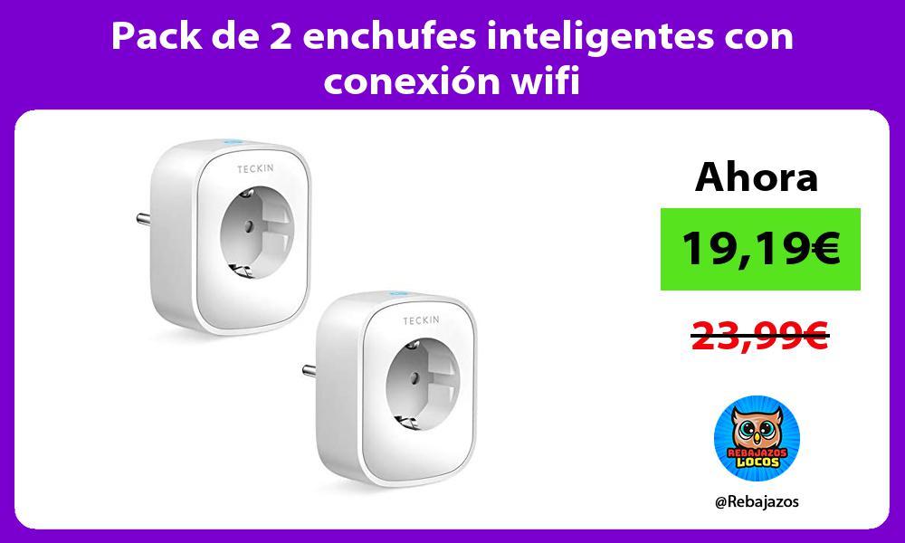 Pack de 2 enchufes inteligentes con conexion wifi