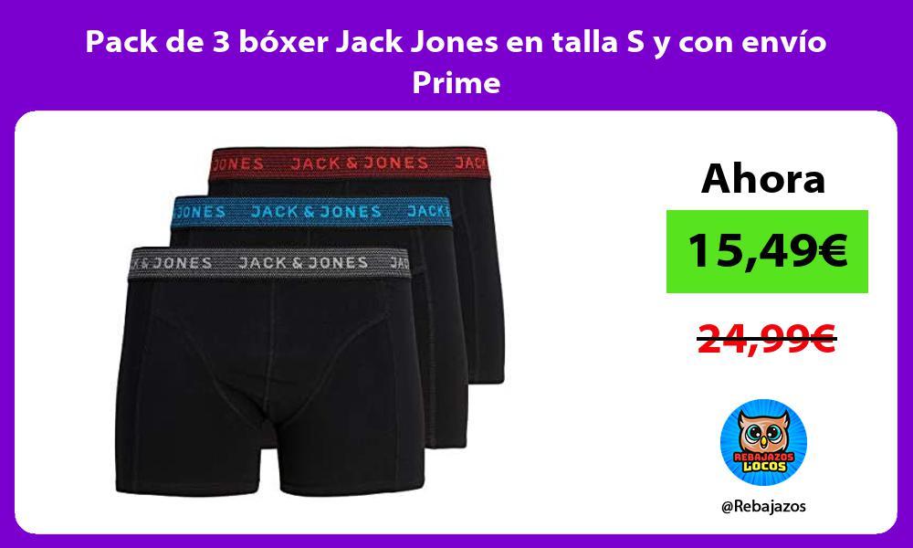 Pack de 3 boxer Jack Jones en talla S y con envio Prime