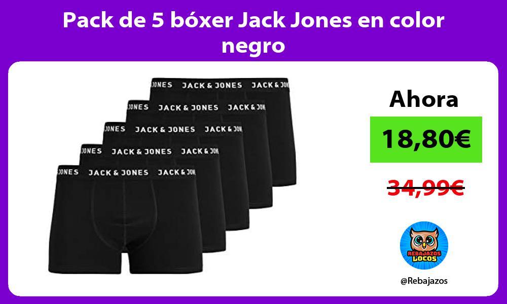 Pack de 5 boxer Jack Jones en color negro