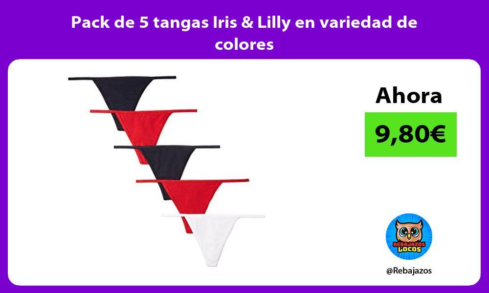Pack de 5 tangas Iris Lilly en variedad de colores