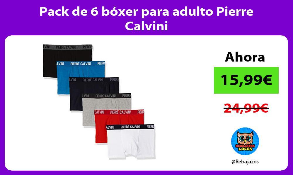 Pack de 6 boxer para adulto Pierre Calvini