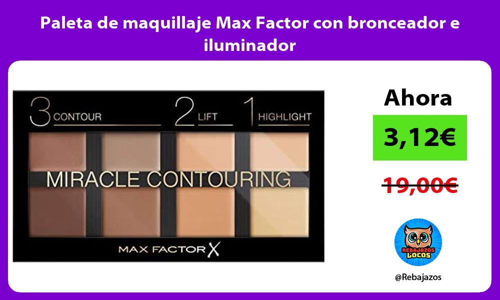 Paleta de maquillaje Max Factor con bronceador e iluminador