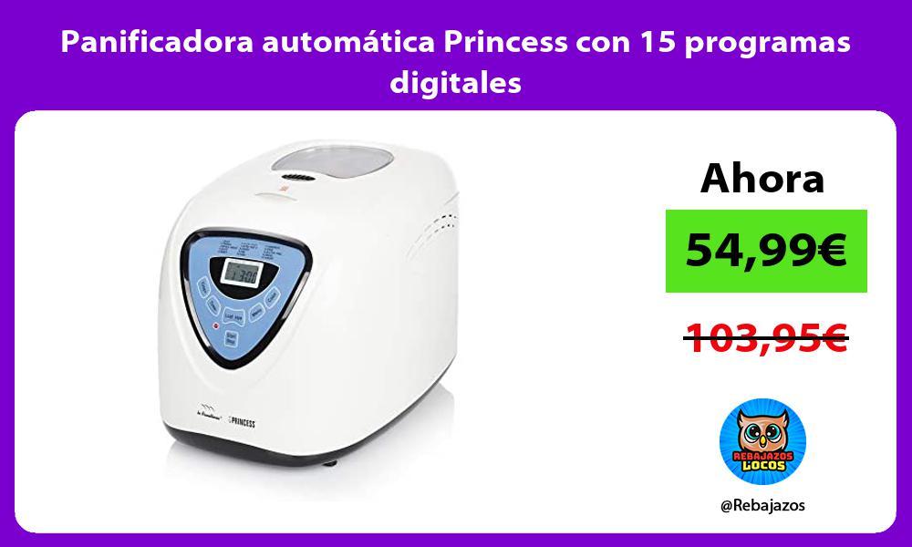 Panificadora automatica Princess con 15 programas digitales