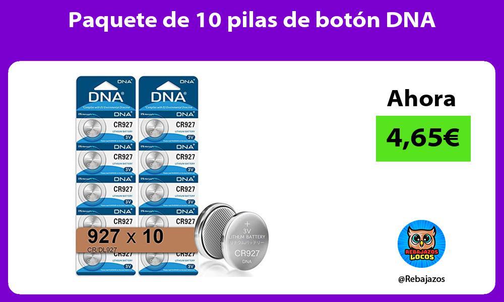 Paquete de 10 pilas de boton DNA