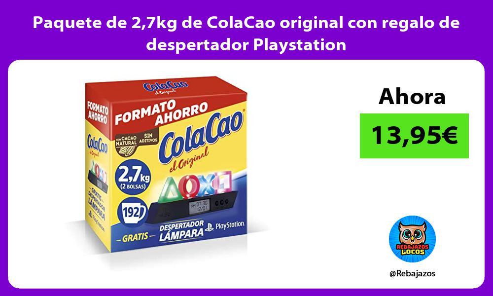 Paquete de 27kg de ColaCao original con regalo de despertador Playstation