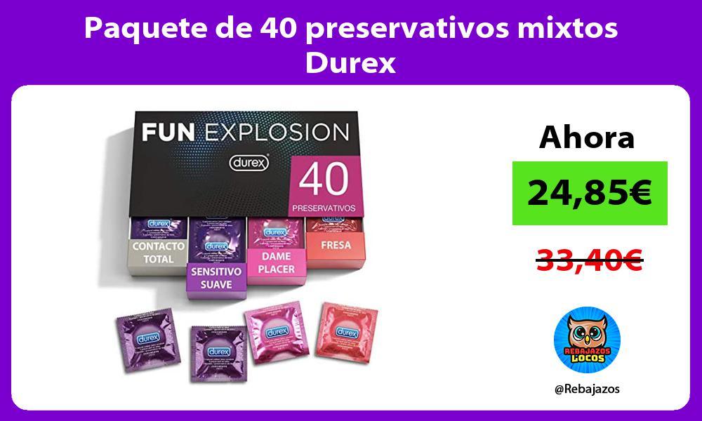 Paquete de 40 preservativos mixtos Durex