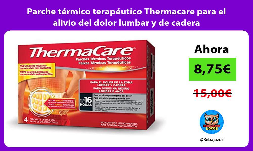 Parche termico terapeutico Thermacare para el alivio del dolor lumbar y de cadera