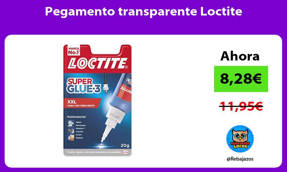 Pegamento transparente Loctite