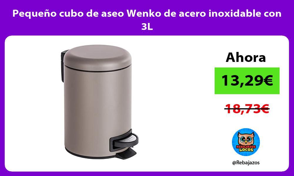 Pequeno cubo de aseo Wenko de acero inoxidable con 3L