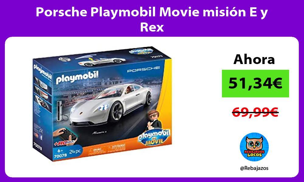 Porsche Playmobil Movie mision E y Rex