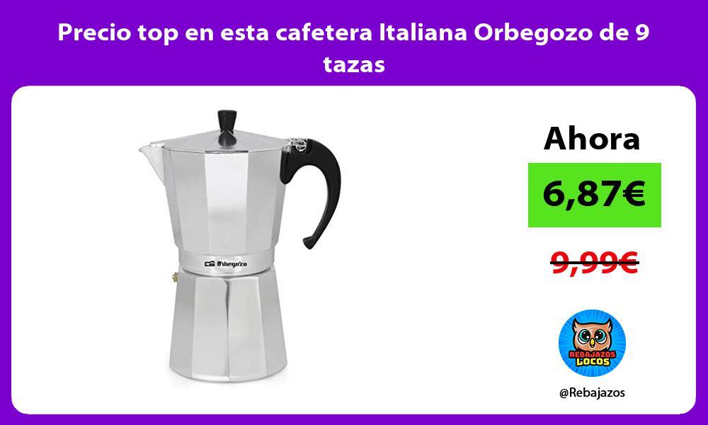 Precio top en esta cafetera Italiana Orbegozo de 9 tazas