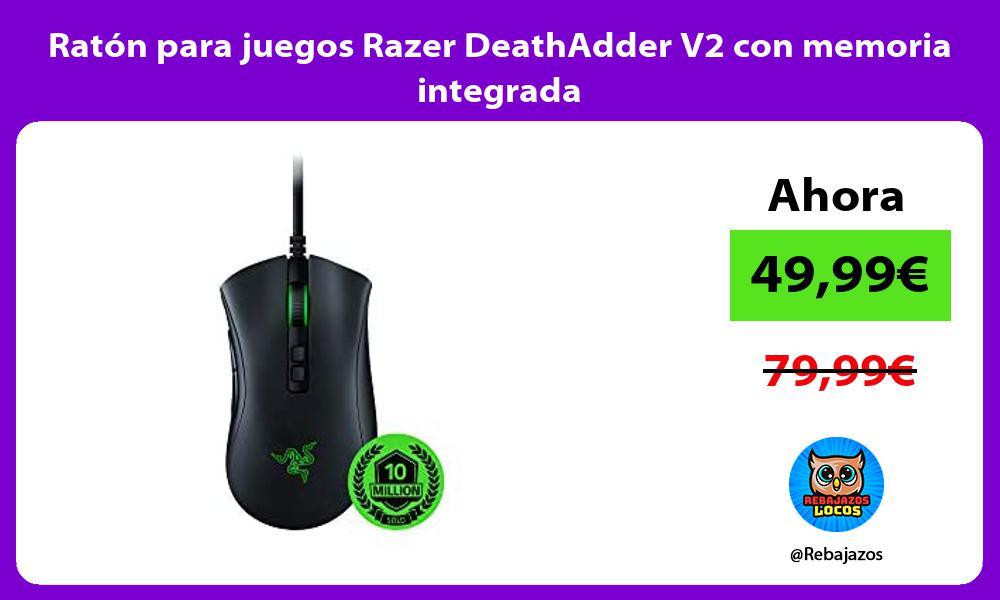 Raton para juegos Razer DeathAdder V2 con memoria integrada