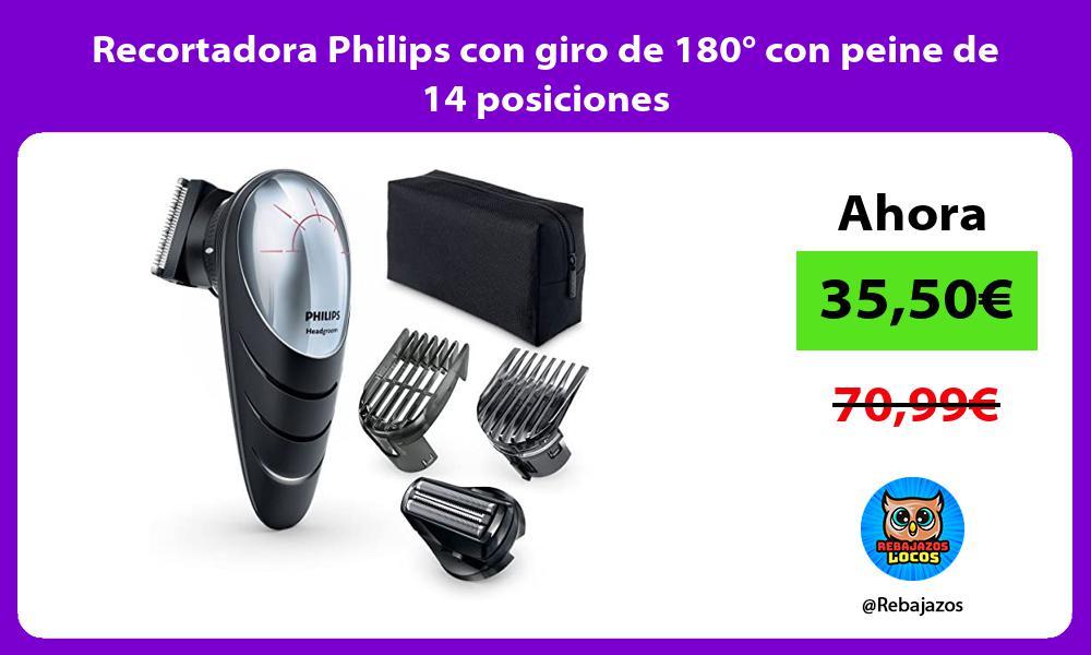 Recortadora Philips con giro de 180° con peine de 14 posiciones