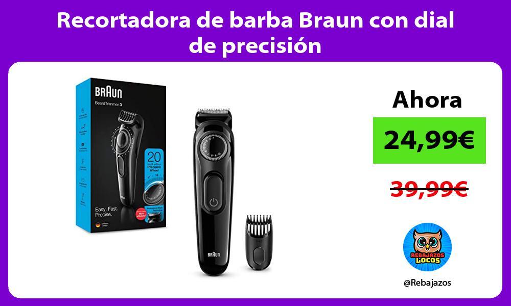 Recortadora de barba Braun con dial de precision