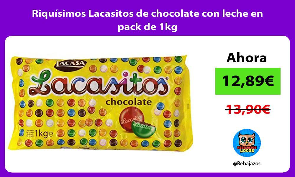 Riquisimos Lacasitos de chocolate con leche en pack de 1kg