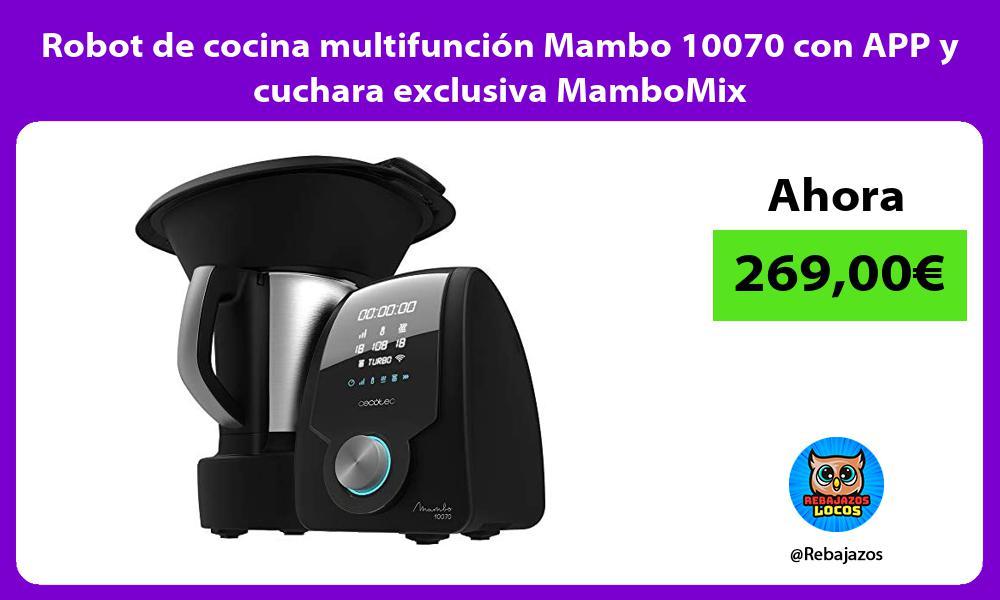 Robot de cocina multifuncion Mambo 10070 con APP y cuchara exclusiva MamboMix