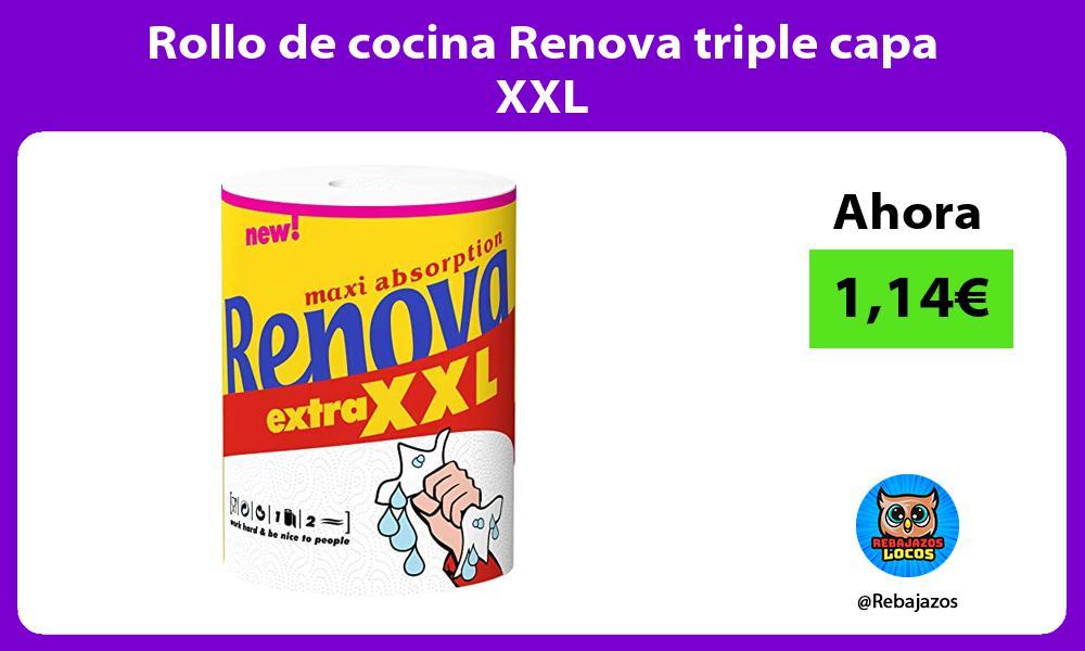 Rollo de cocina Renova triple capa XXL