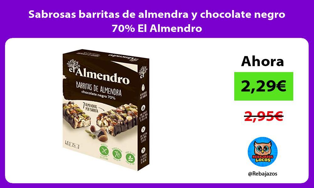 Sabrosas barritas de almendra y chocolate negro 70 El Almendro