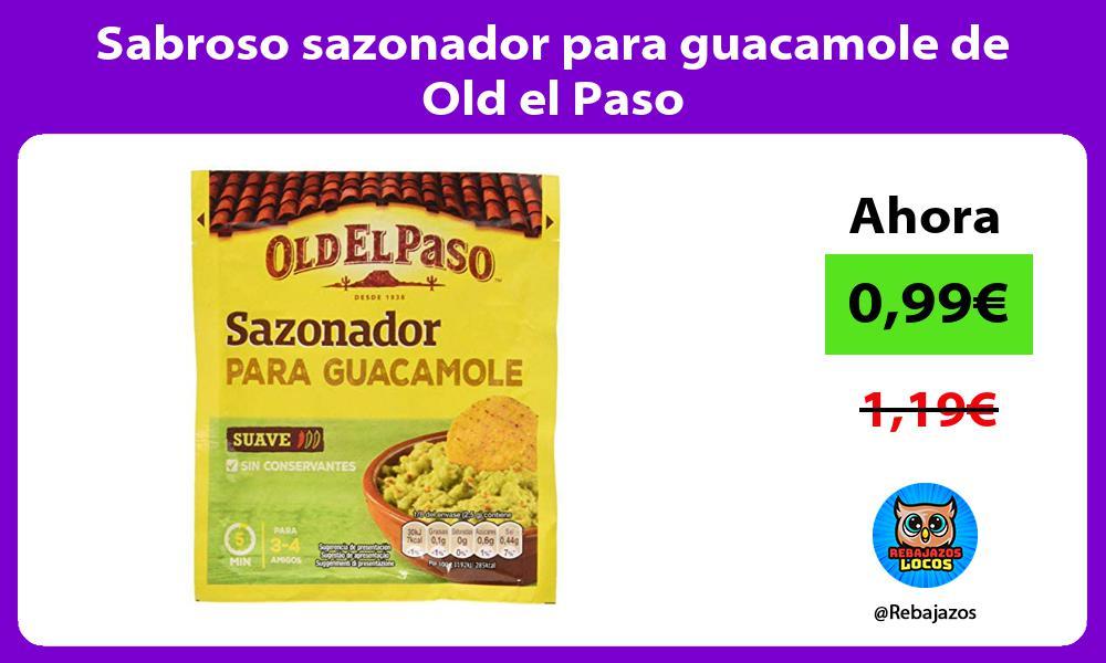 Sabroso sazonador para guacamole de Old el Paso