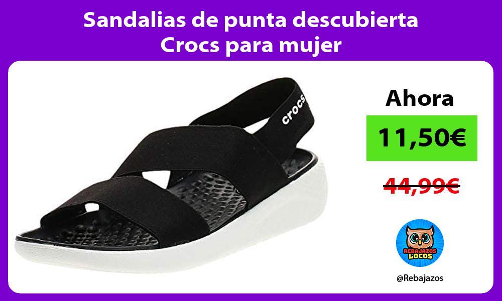 Sandalias de punta descubierta Crocs para mujer