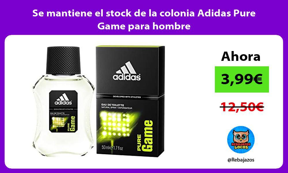 Se mantiene el stock de la colonia Adidas Pure Game para hombre