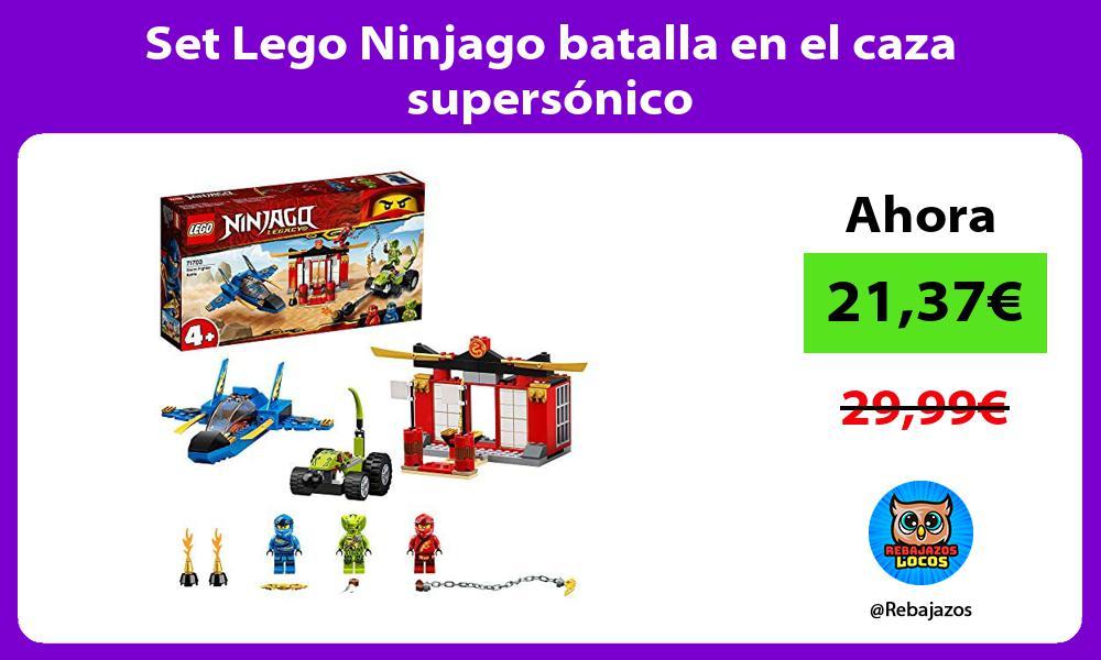 Set Lego Ninjago batalla en el caza supersonico