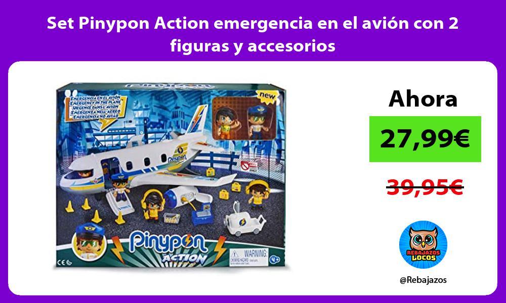 Set Pinypon Action emergencia en el avion con 2 figuras y accesorios
