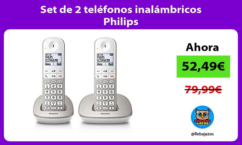 Set de 2 telefonos inalambricos Philips