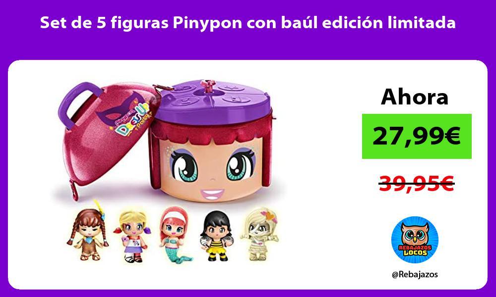 Set de 5 figuras Pinypon con baul edicion limitada