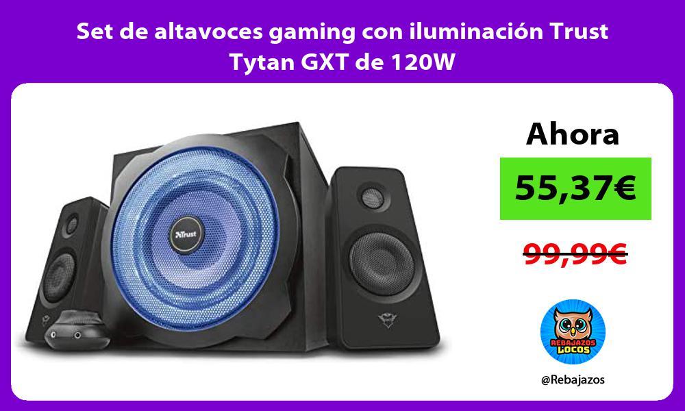 Set de altavoces gaming con iluminacion Trust Tytan GXT de 120W