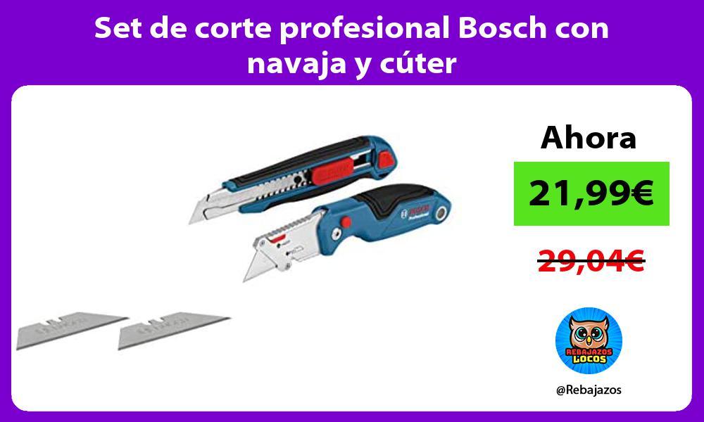 Set de corte profesional Bosch con navaja y cuter