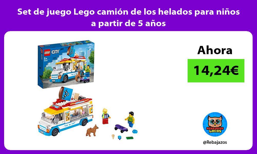 Set de juego Lego camion de los helados para ninos a partir de 5 anos