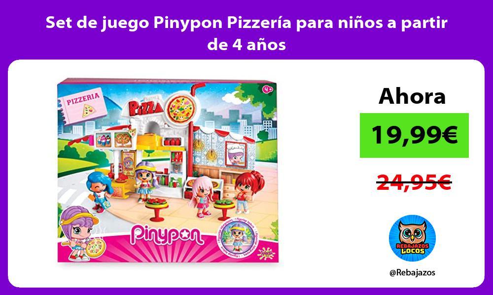 Set de juego Pinypon Pizzeria para ninos a partir de 4 anos