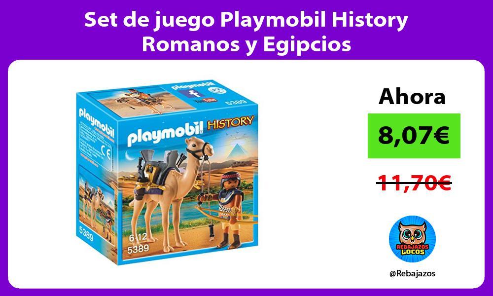 Set de juego Playmobil History Romanos y Egipcios