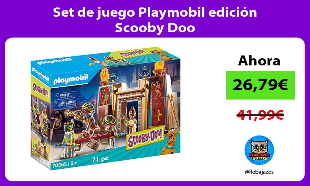 Set de juego Playmobil edicion Scooby Doo