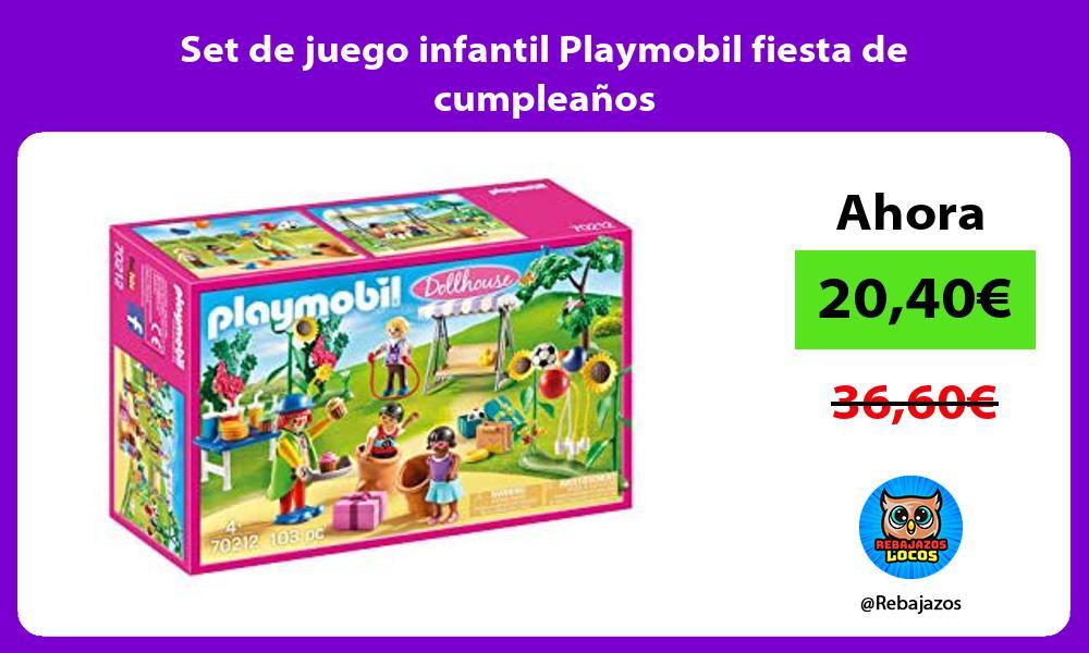 Set de juego infantil Playmobil fiesta de cumpleanos