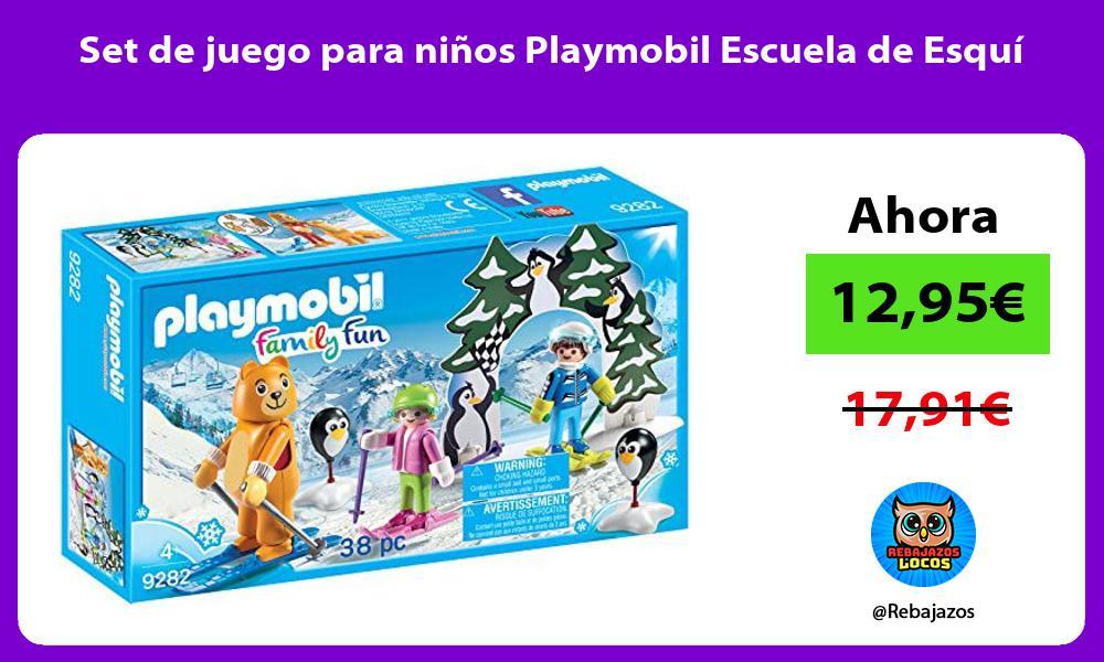 Set de juego para ninos Playmobil Escuela de Esqui