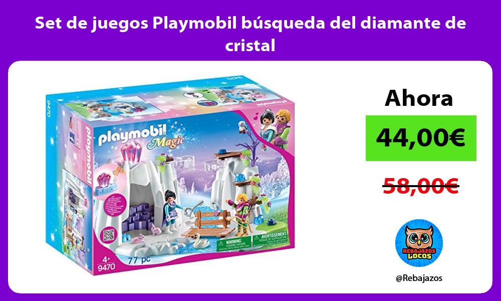 Set de juegos Playmobil busqueda del diamante de cristal