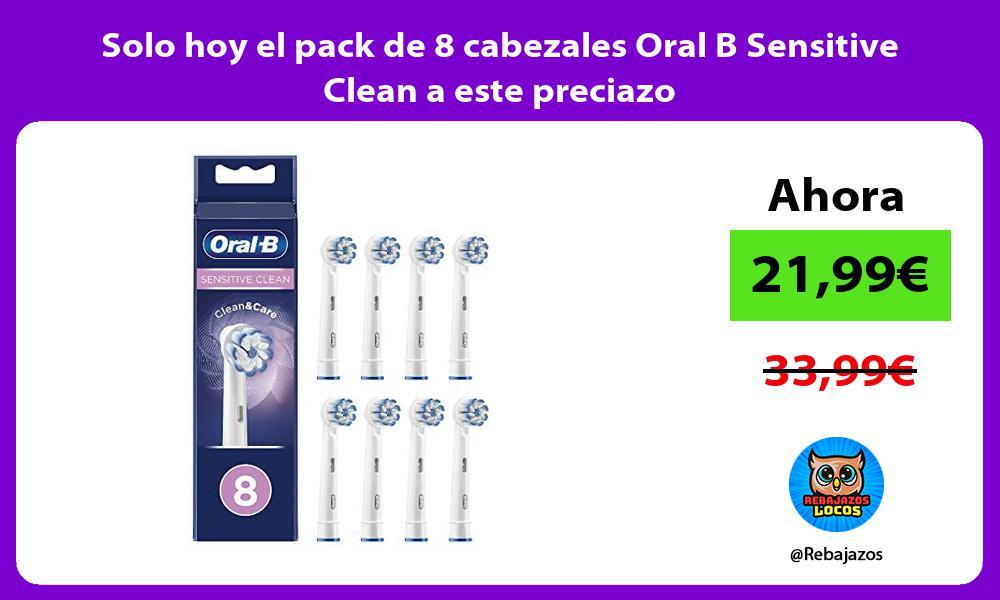 Solo hoy el pack de 8 cabezales Oral B Sensitive Clean a este preciazo