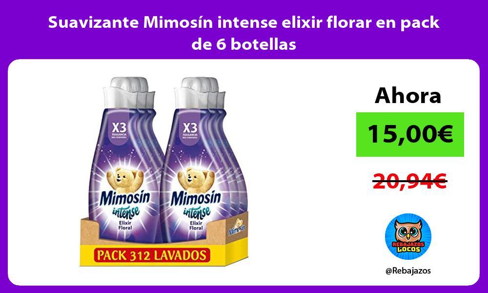 Suavizante Mimosin intense elixir florar en pack de 6 botellas