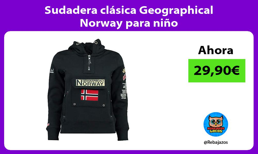 Sudadera clasica Geographical Norway para nino