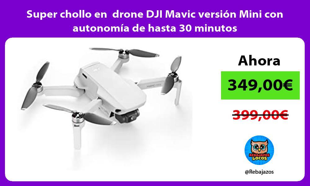Super chollo en drone DJI Mavic version Mini con autonomia de hasta 30 minutos
