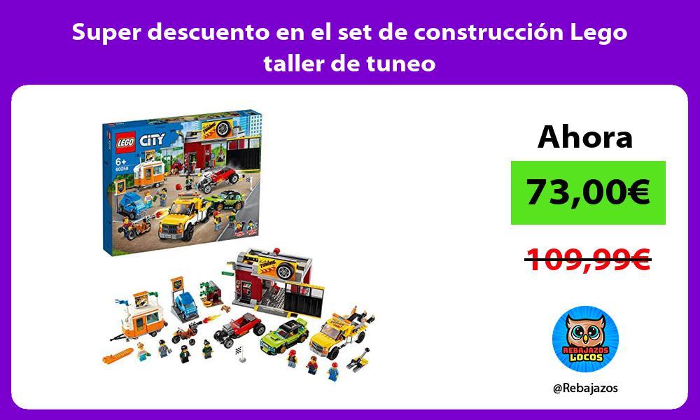 Super descuento en el set de construccion Lego taller de tuneo