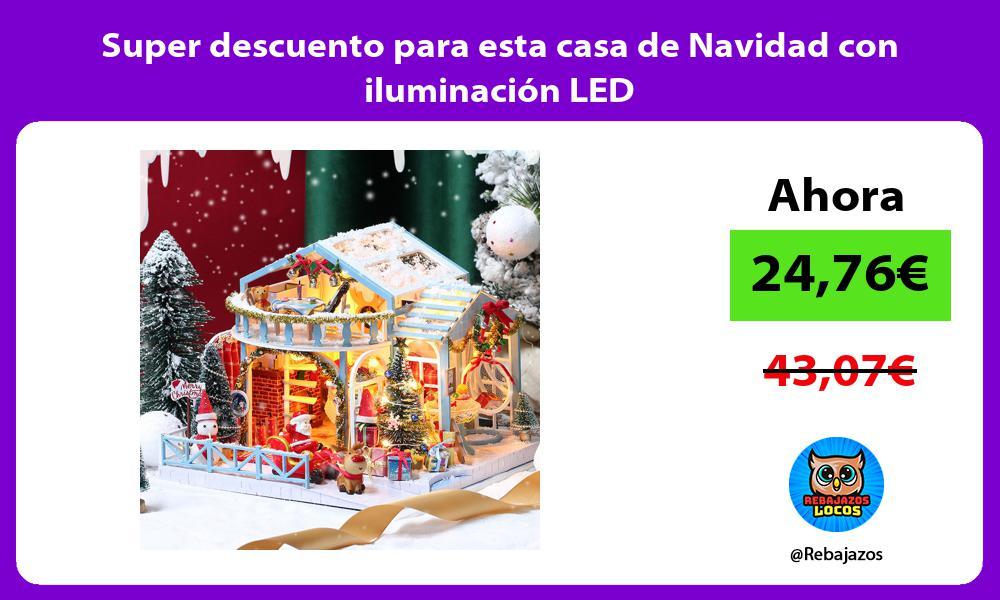 Super descuento para esta casa de Navidad con iluminacion LED
