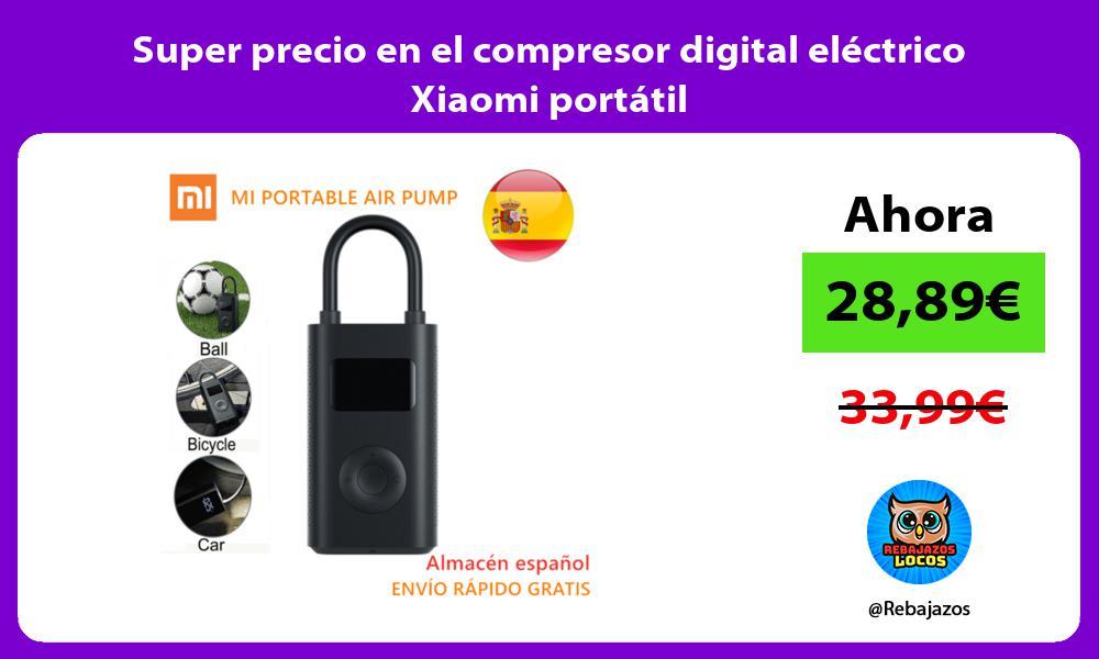 Super precio en el compresor digital electrico Xiaomi portatil